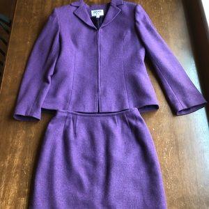Kasper ASI 2-pc Purple Skirt Suit Size 6